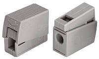 Клеммник WAGO 1+1 (одножил. 1-2,5 мм и многожил. 0,5-2,5 мм) 24-16A Cu/Al