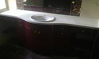 Мебель для ванных комнат со столешницей из искусственного камня