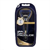 Бритвенный станок Gillette Fusion ProGlide  Gold с 2-мя картриджами на подставке