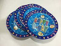 Тарелки для дня рождения 18см 6шт в упаковке