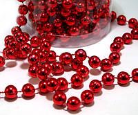 Гирлянда красных бусинок 6 мм