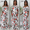 Шелковое цветочное платье, фото 3