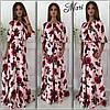 Шелковое цветочное платье, фото 2