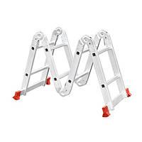 Лестница алюминиевая мультифункциональная трансформер 4*2 ступ. 2.50м INTERTOOL LT-0028