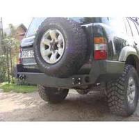 Бампер задний для Nissan Patrol Y61 (1998-2005 SWB / LWB
