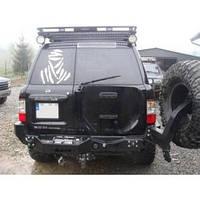 Бампер задний под лебёдку для Nissan Patrol Y61 (1998-2005 SWB / LWB)