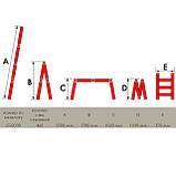Лестница алюминиевая мультифункциональная трансформер 4*3ступ. 3.70м INTERTOOL LT-0030, фото 7
