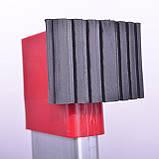 Лестница алюминиевая мультифункциональная трансформер 4*3ступ. 3.70м INTERTOOL LT-0030, фото 8
