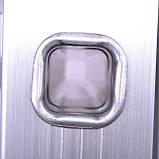 Лестница алюминиевая мультифункциональная трансформер 4*3ступ. 3.70м INTERTOOL LT-0030, фото 9