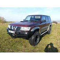 Бампер передний для Nissan Patrol Y61 (1998-2005 SWB / LWB)