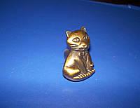 Детская ручка котик бронза, фото 1