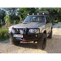 Бампер передний с кенгурятником для Nissan Patrol Y61 (1998-2005 SWB / LWB)