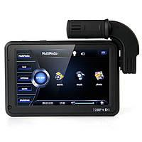 """Автомобильный видеорегистратор с GPS и 2-мя камерами, экран 5"""", автовключение, память 4 Гб, слот microSD"""