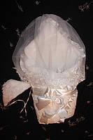 Нарядный комплект для новорожденного с вуалью