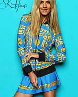 Спортивный костюм с юбкой | Chanel цепи sk