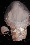 Нарядный комплект для новорожденного с вуалью, фото 3