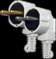 Евровилка электро штепсельная угловая с заземлением ВГ-1 латунь 16А