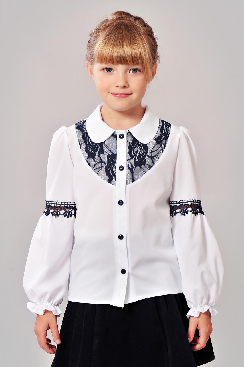 54cd8b10826 Школьная блузка для девочек размеров 122