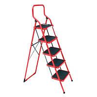 Лестница-стремянка 5 ступени складная 380*260мм высота 1625мм INTERTOOL LT-0035