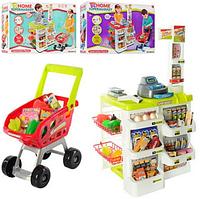 Игровой набор    668-01-03 супермаркет с тележкой и продуктами hn, кк ri