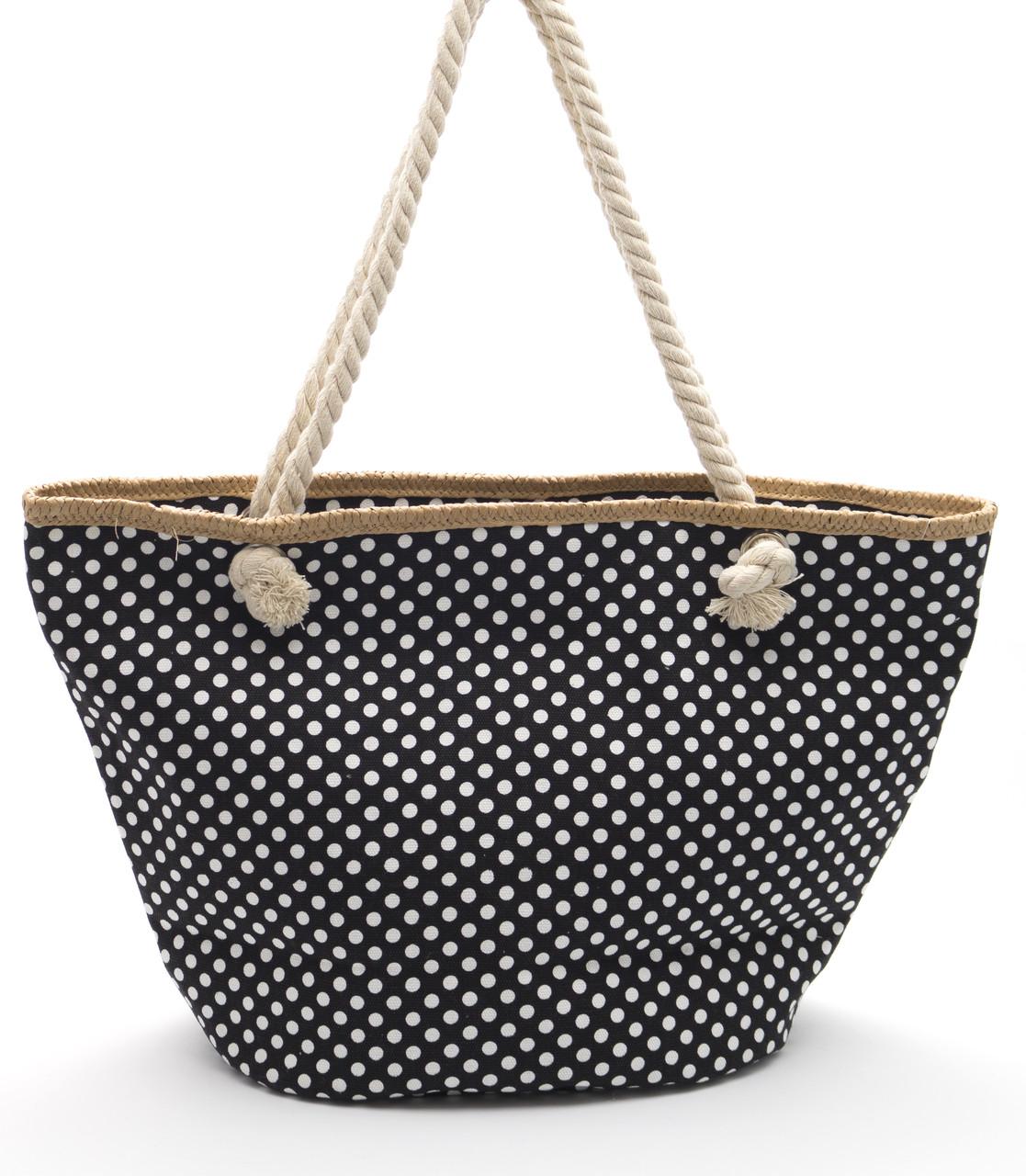 Пляжная женская сумка в горошек Б/Н art. 9463