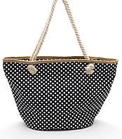 Пляжная женская сумка в горошек Б/Н art. 9463, фото 1