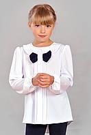 Блузка для школы для девочек белая размеры 122, 128, 134, 140  Марианна оптом и в розницу