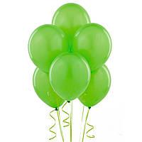Воздушые шары зеленые 100 шт. 21 см.