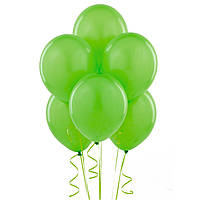 Повітряні кулі зелені 100 шт. 21 див.