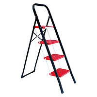 Лестница-стремянка 4 ступени стальная 300*200мм высота 1238мм INTERTOOL LT-0044