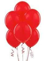 Воздушые шары красные 100 шт. 21 см.