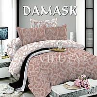Комплект постельного белья Поплин Дамаск 009