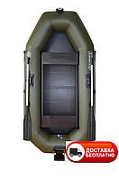 Надувная лодка Omega 250LSPT(PS) (поворот. Уключ.,слань коврик, привал. брус, подвиж.сид., навес. транец)