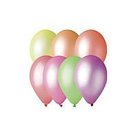 Воздушые шары неоновые микс 100 шт. 21 см.