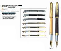 Ручка металлическая перьевая BAIXIN FP-801 (золото, мрамор)