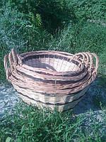 Комплект корзин для овощей из чищенной лозы — 4 шт, фото 1