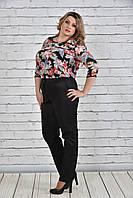 Женская легкая цветная блуза больших размеров (рр 42-74), разные цвета