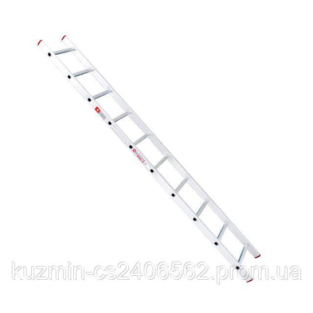 Лестница алюминиевая приставная 10 ступеней 2.84м INTERTOOL LT-0110
