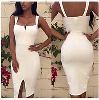 Женское платье обтягивающее с вырезом а428