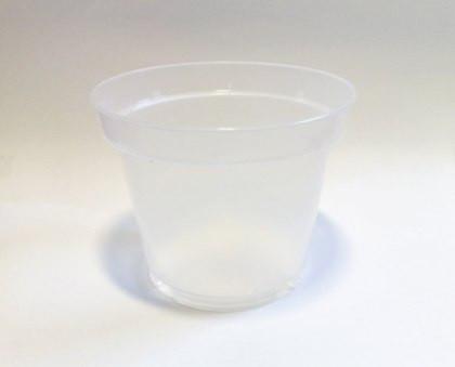 Горшок для орхидей белый прозрачный, d 15см