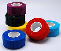 Бинт-лента для пальцев, цветная.