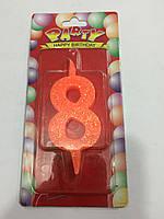 Свечи цифры цветные 7см