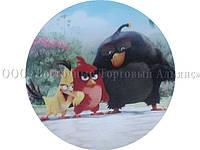 Вафельная картинка - Злые птички №4 - Ø21