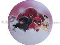 Вафельная картинка - Злые птички №6 - Ø21