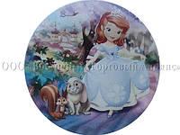 Вафельная картинка - Принцесса София №1 - Ø21