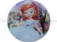 Вафельная картинка - Принцесса София №4 - Ø21