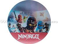 Вафельная картинка - Ниндзяго №5 - Ø21