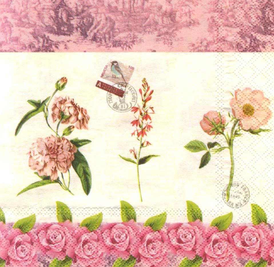 Салфетки для декупажа Цветы 943