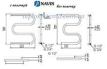Полотенцесушитель водяной Змеевик (25)  600 х 600 (NAVIN), фото 3