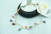Позолоченный браслет Фалон -оберег для женщин оптом. Защитная бижутерия оптом недорого. 866